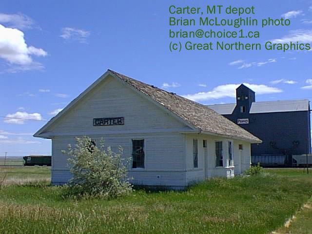 Carter, MT Depot Photo By Brian McLoughlin.